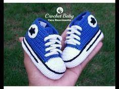 All Star Cano Longo em crochê -Tamanho 09 cm - Crochet Baby Yara Nascimento 837385fba7a