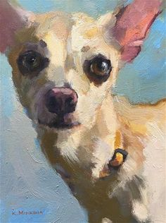 Daily Paintworks - - Original Fine Art for Sale - © Katya Minkina Chihuahua Art, Watercolor Animals, Dog Portraits, Animal Paintings, Dog Art, Figure Painting, Cute Art, Art Gallery, Illustration