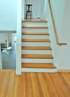 Quarter Sawn White Oak stair treads and flooring