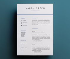 Minimalistic resume template for Word | CV template