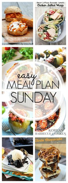 Easy Meal Plan Sunday #49 is here to make your weeknights easier. We've got main dish recipes, a breakfast recipe and 2 dessert recipes for your week.