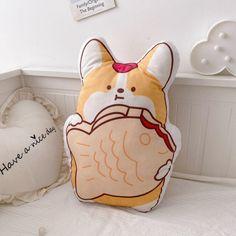 Corgi Plush, Pet Supplies, Cute Animals, Kawaii, Pillows, Pets, Corgis, Design, Toy