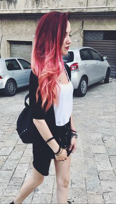 Hair by me red and pink