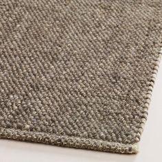 Charcoal Emilie Flatweave Sweater Wool Area Rug | World Market