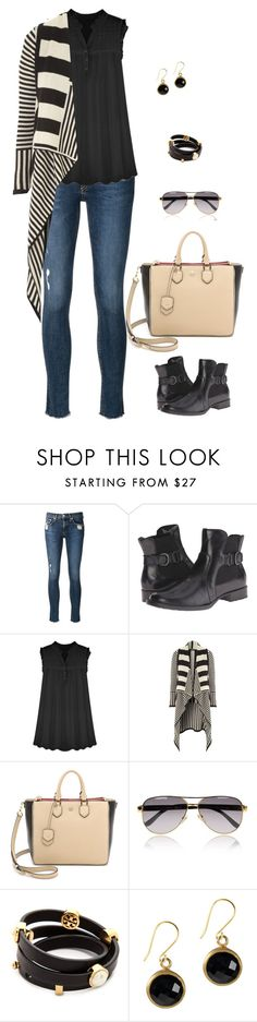 """Untitled #1002"" by tracileigh01 ❤ liked on Polyvore featuring rag & bone/JEAN, Børn, Jane Norman, Tory Burch and Gucci"