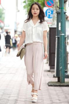 Kana | mysty woman UNIQLO  MICHAEL KORS LOWRYS FARM CASSELINI  | 3rd week  Jun. 2016 | Shibuya | Tokyo Street Style | TOKYO STREET FASHION NEWS | style-arena.jp