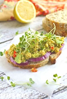 ... and Smashed Chickpea and Avocado Sandwiches #MeatlessMonday #vegan