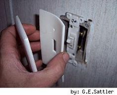 Easy and Inexpensive Energy Saving Tip! Insulate your light switch and outlet covers.