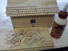 800 Popsicle Stick Bird House w/ Mini Adirondack Furniture - by KylesWoodworking @ LumberJocks.com ~ woodworking community
