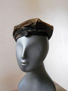 9e263167765 Vintage Hattie Carnegie Miss Hattie velvet hat tam by posypower