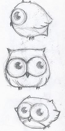 Drawing Doodles Sketches Cute little owl drawing - Maybe a tattoo? Doodle Drawings, Drawing Sketches, Pencil Drawings, Drawing Ideas, Cute Owl Drawing, Drawing Animals, Sketching, Simple Owl Drawing, Pencil Art