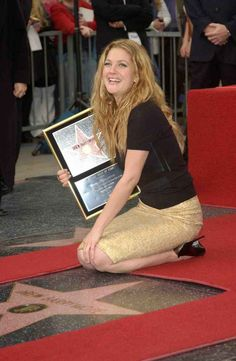 Hollywood Walk of Fame, Los Angeles, CA, USA Hollywood High School, Hooray For Hollywood, Hollywood Walk Of Fame, Hollywood Stars, Drew Barrymore, Barrymore Family, Lab, Hollywood Boulevard, Music Photo