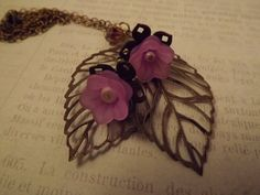 Leaves and Lavender Flowers by ShayBelleDesigns on Etsy, $7.00