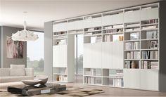 Libreria moderna bifacciale componibile con ante SYSTEMA