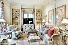 Beautiful room designed by Joni Webb of Cote de Texas