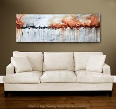 Large panoramic abstract painting original art 5 by RawArtGallery