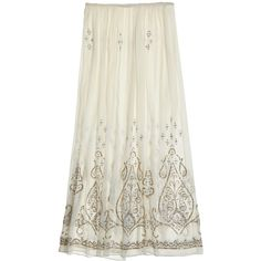 CALYPSO St. Barth Niut Embellished Silk Maxi Skirt ($349) ❤ liked on Polyvore featuring skirts, cocnutcc, sequin skirt, long skirts, sequin maxi skirt, long silk skirt and floor length skirt