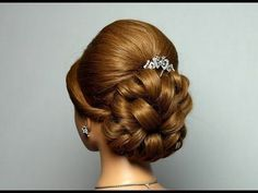 Wedding prom hairstyles for long hair. Bridal updo. u0421u0432u0430u0434u0435u0431u043du0430u044f u043fu0440u0438u0447u0435u0441u043au0430, u043fu0440u0438u0447u0435u0441u043au0430 u043du0430 u0432u044bu043fu0443u0441u043au043du043eu0439