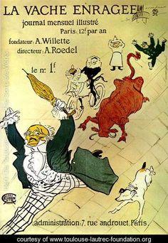 La vache enragee - Henri De Toulouse-Lautrec - www.toulouse-lautrec-foundation.org