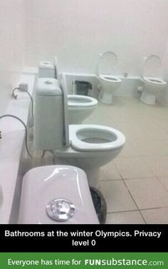 Bathrooms at the winter Olympics