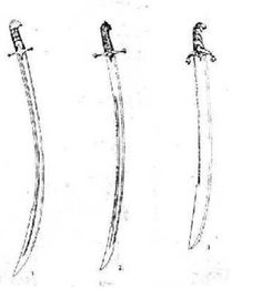 Armenian Versions (right) Czeczuga, (left) Armenian Karabel, (middle) Ordynka. Curved Swords, Polish Words, Indian Sword, Arm Armor, Vogue, Abstract, Armors, Renaissance, Weapons