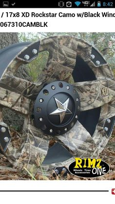 Camo rims. Hubby wants these for his truck