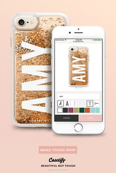 Make your OWN! - phone cases for  iPhone 6/6s/7/7+ AND MORE! Shop them here ☝️☝️☝️ BEAUTIFUL BUT TOUGH ✨ - say your name, customised iPhone case, glitter phone cases