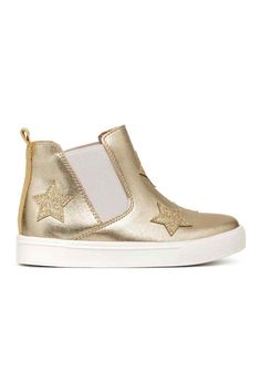 Chelsea boots with appliqués - Gold/Stars - Kids | H&M GB
