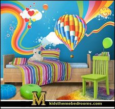 Rainbow Butterflies Wall Decal-rainbow bedrooms-decorating rainbow ...