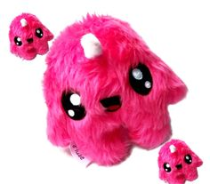 Fluse Kawaii Plush Unicorn cute Monster Neon Pink von Fluse123