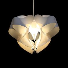 Kaigami is designer Guillaume Lyons' name for bending pliable sheet material into organic 3-D shapes. There is a selection of beautiful Kaigmai hanging lamps on this site for under $ 30.