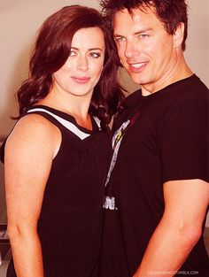 Eve Myles & John Barrowman - Gwen Cooper & Captain Jack Harkness from Torchwood