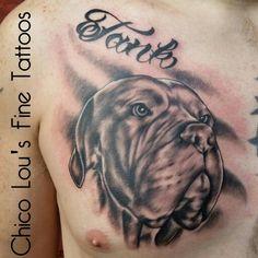 grayscale memorial pet portrait dog tattoo