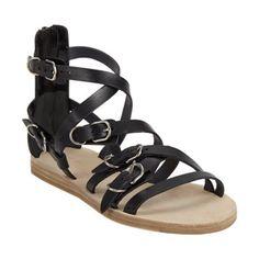 Balenciaga Multi-Strap Buckle Flat Sandals at Barneys.com