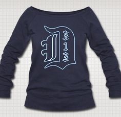 Our USA made wideneck sweatshirts are so soft and cozy that when you put one on, you'll never want to take it off unless it's to put a different one on.  www.downwithdetroit.com