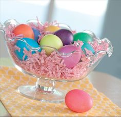 simply irresistible for Easter .... <3 the ruffled glass bowl (and it is ON SALE! woo-hoo!)