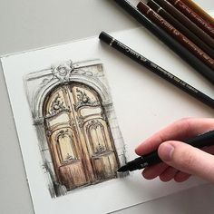 #art #drawing #pen #sketch #illustration #linedrawing #architecture #fabercastell