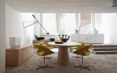 dining room - yellow chairs