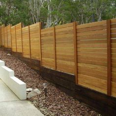 Landscaping And Outdoor Building , Outdoor Timber Fences : Timber Fences With Sleeper Base