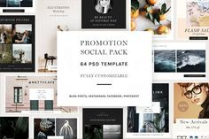 Promotion Social Pack by Sparrow & Snow on @creativemarket