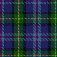 Renfrewshire tartan, apparently the tartan of clan Whiteford.  Jury is still out on whether we're from north or south of the border...