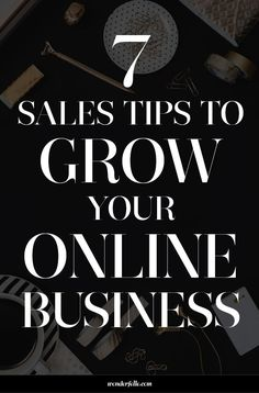 sale tips 7 sales tips to grow your online business. Sales + marketing tips for entrepreneurs + small business owners who want to get noticed online and grow their revenue. Click through for 7 sales tips! Small Business Marketing, Sales And Marketing, Internet Marketing, Online Marketing, Business Sales, Mobile Marketing, Affiliate Marketing, Digital Marketing, Business Planning