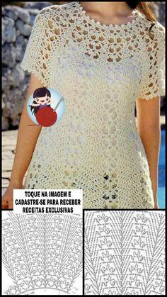 Crochet Collar, Crochet Blouse, Crochet Top, Crochet Shawl Diagram, Chrochet, Baby Crafts, Crochet Crafts, Crochet Clothes, Crochet Patterns