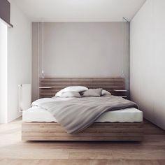 Design: Ilya Taslitskiy #bedroom #bed #interior #interiors #interiordesign #interiordecor #instainterior #instainteriors #instadesign #instadecor #simple #cleanlines #simpicity