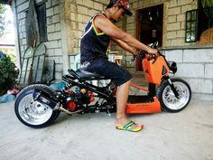 Scooter Parts & Accessories - Scooter Performance & Stock Parts Scooter 250, Knee Scooter, Moped Scooter, Scooter Parts, Custom Mini Bike, Scooter Custom, Honda Legend, Custom Trikes, Honda Ruckus