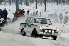 Lotus Cortina, Historic Rally Sweden 2013.  Photo: McKlein