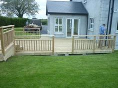 We an install your deck to bring the garden closed to the house.This deck gives practical use to otherwise unused space.