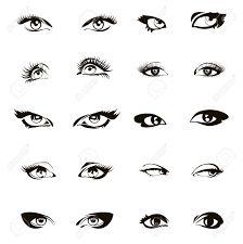 Resultado de imagen de como se dibujan los ojos de mujer