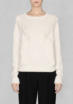 Fringed sweater   Fringed sweater   & Other Stories