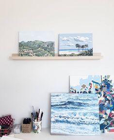 "37 tykkäystä, 5 kommenttia - Jenni Tuulia (@jennituuliaart) Instagramissa: ""I love this little art shelf. It's fun to switch the display of my studio every now and then, and…"" My Art Studio, Jenni, Photo Wall, Shelf, Display, Creative, Frame, Fun, Home Decor"